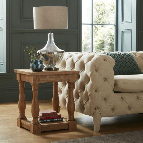 Westbury Rustic Oak Lamp Table - Westbury Furniture