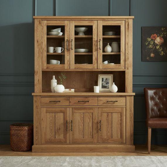 Westbury Rustic Oak Welsh Dresser - Westbury Furniture