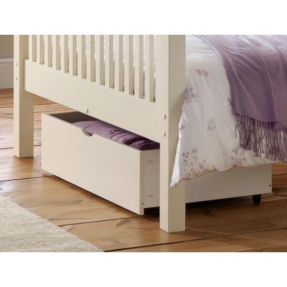 White Under Bed Storage Drawer