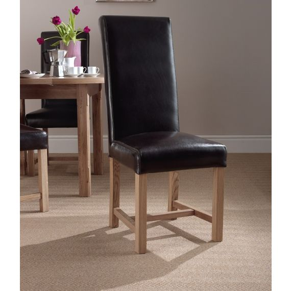 Windermere Rollback Dining Chair Brown