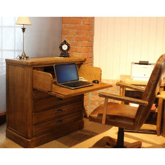 Windsor Oak Chest Desk