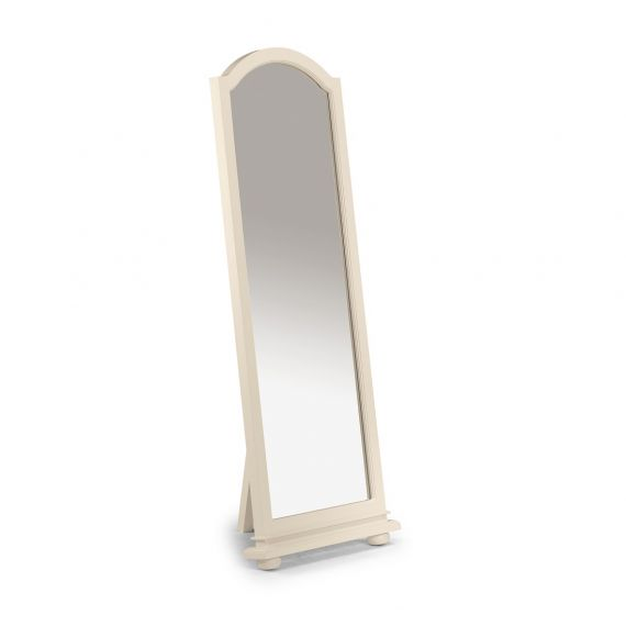 Yazmin White Floor Standing Cheval Mirror