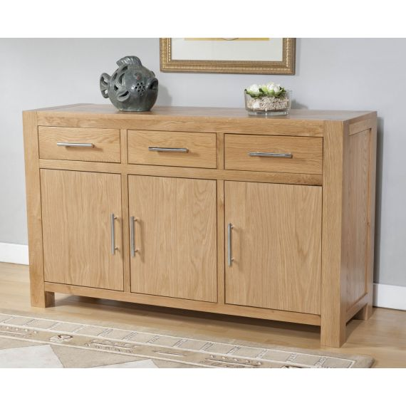 Aylesbury Contemporary Light Oak Large Sideboard
