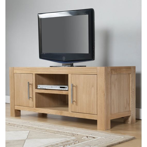Aylesbury Contemporary Light Oak Large TV Unit