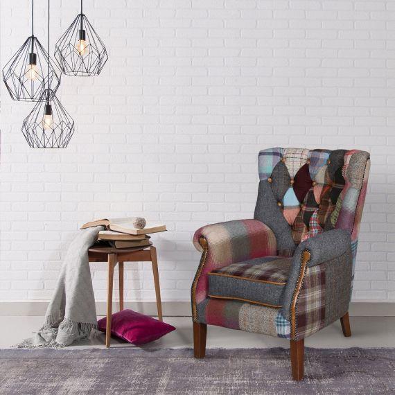 Barnard Armchair - Patchwork Vintage Chair