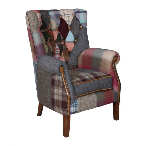 Barnard Patchwork Armchair - Vintage Chair