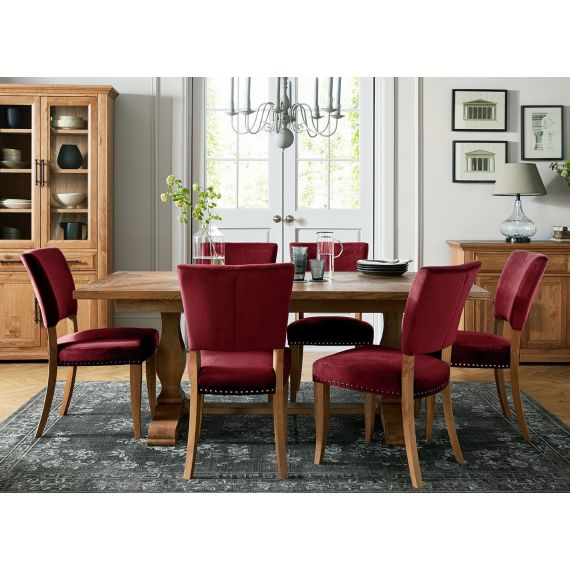 Belgrave Rustic Oak Extending Dining Table - 6-8 Seater