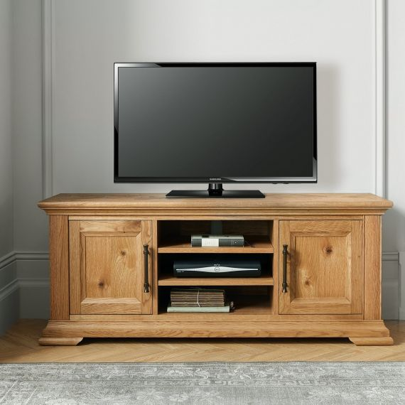 Belgrave Rustic Oak Wide TV Unit
