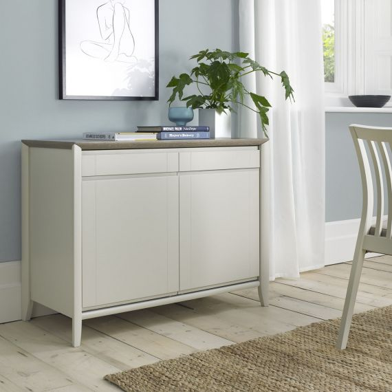 Bergen Grey Washed Oak & Soft Grey Small Sideboard