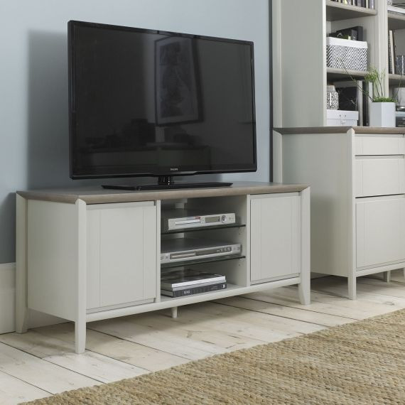Bergen Grey Washed Oak & Soft Grey TV Unit