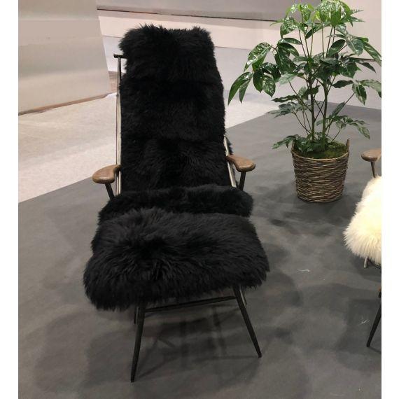 Billy Baa Baa Chair - Black Sheeps Wool