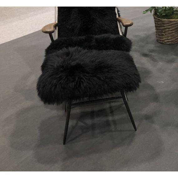 Billy Baa Baa Footstool - Black Sheeps Wool