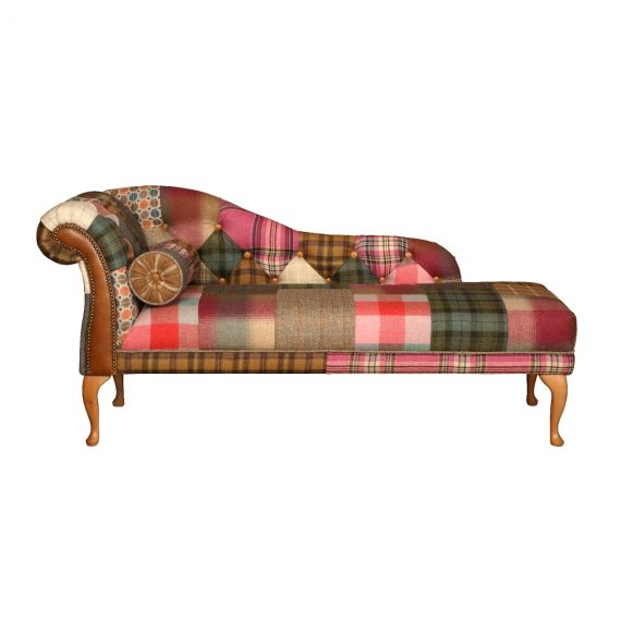 Chester Patchwork Chaise Lounge Sofa