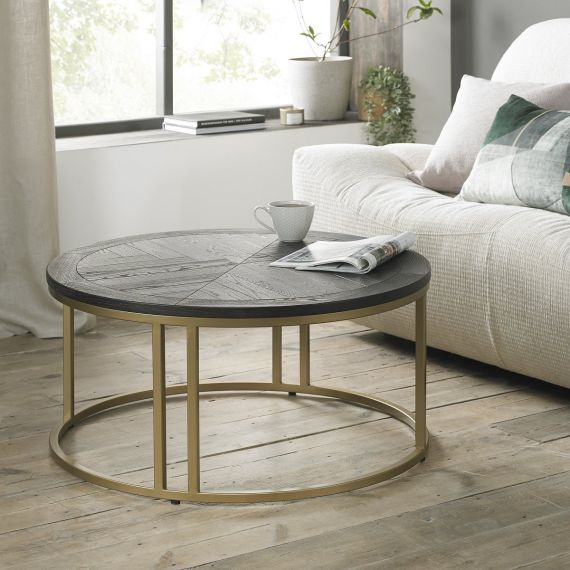 Chevron Peppercorn Ash Coffee Table