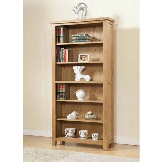 Cotswold Rustic Light Oak Large Bookcase