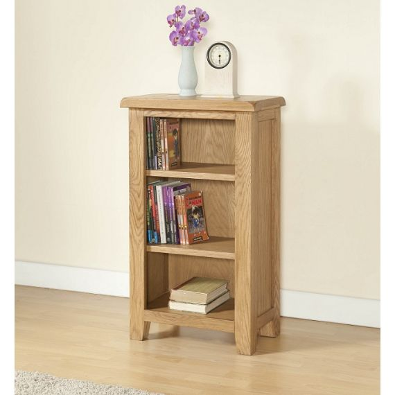 Cotswold Rustic Light Oak Small Bookcase