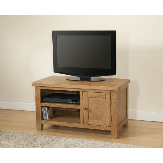 Cotswold Rustic Light Oak Small TV Unit