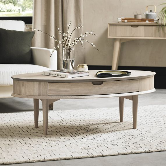 Dansk Scandi Oak Coffee Table with Drawer