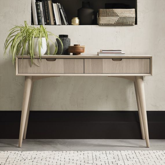 Dansk Scandi Oak Console Table with Drawers