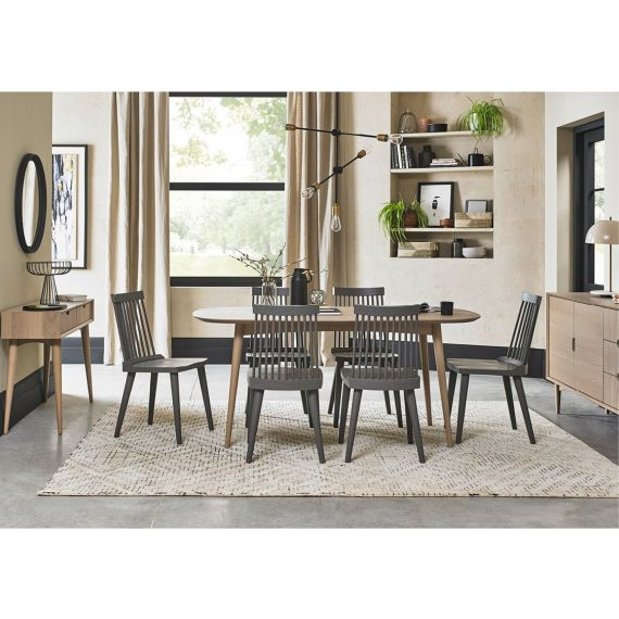Dansk Scandi Oak Dining Table - 6 Seater
