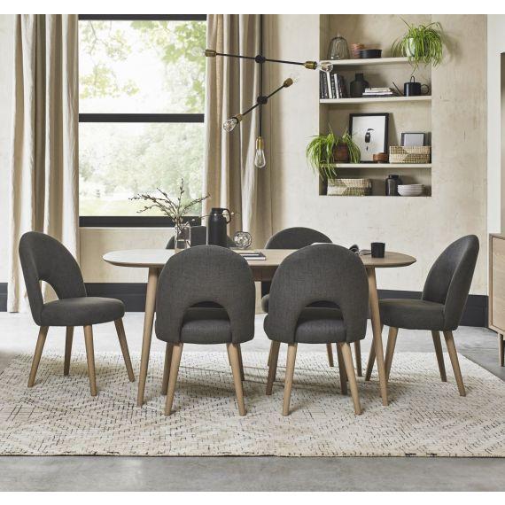 Dansk Scandi Oak Extending Dining Table - 6-8 Seater