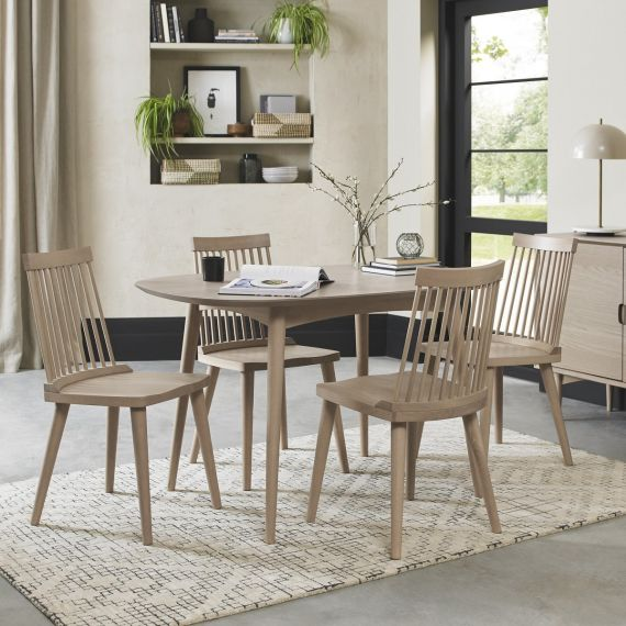 Dansk Scandi Oak Small Dining Table - 4 Seater
