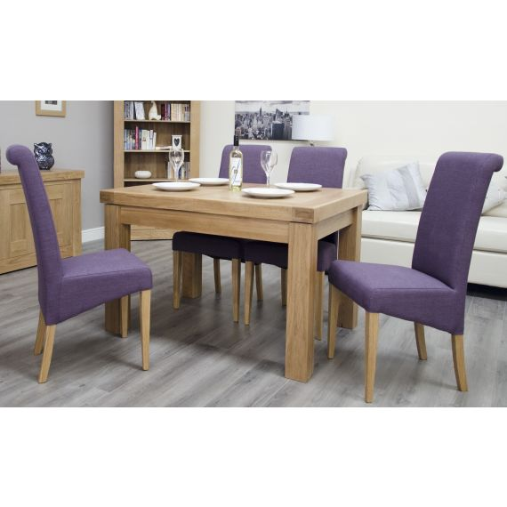 French Bordeaux Solid Oak Small Extending Dining Table