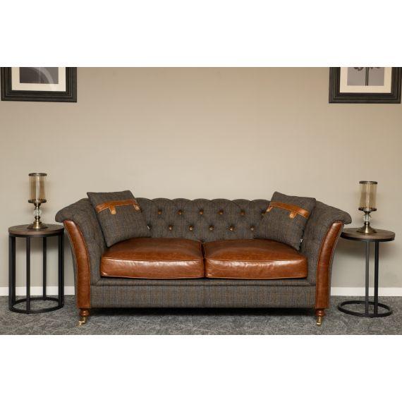 Granby 2 Seater Vintage Sofa Harris Tweed FT