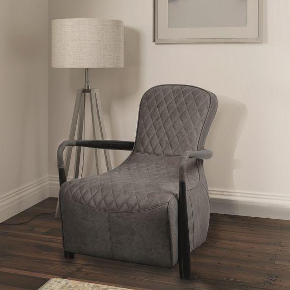 Manhattan Snug Chair - Milan Steel Grey Faux Leather