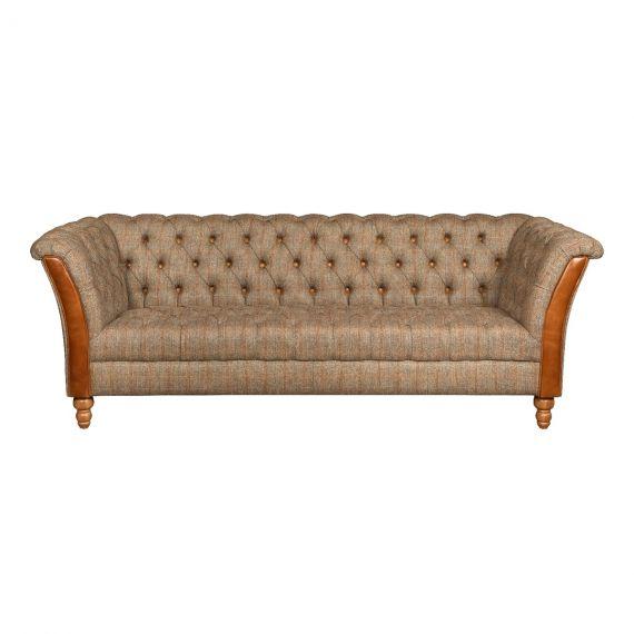 Milford 3 Seater Chesterfield Sofa - Hunting Lodge Harris Tweed