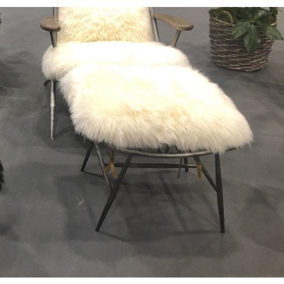 Milly Baa Baa Footstool - White Sheeps Wool