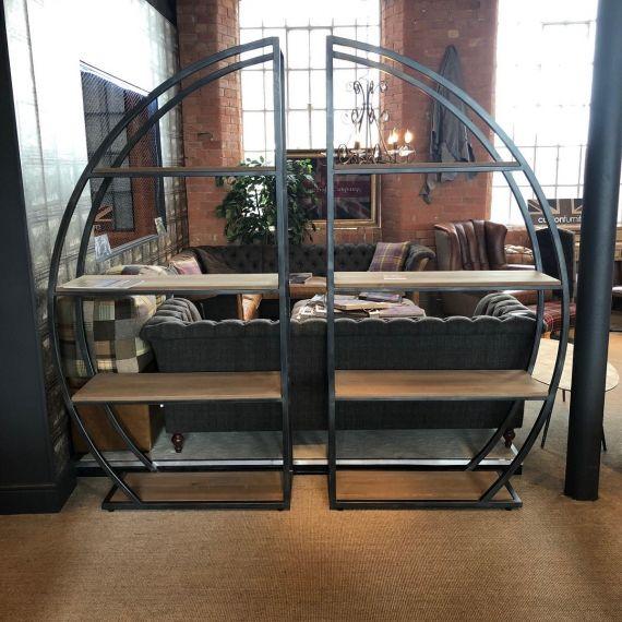 Sail Metal Bookcase - Indsustrial Gunmetal Frame