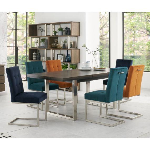 Tivoli Dark Oak Extending Dining Table - 6-8 Seater