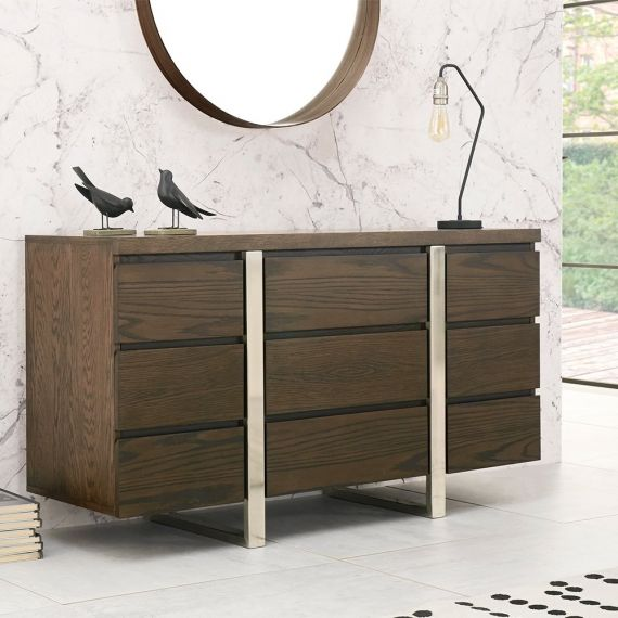 Tivoli Dark Oak Narrow Sideboard