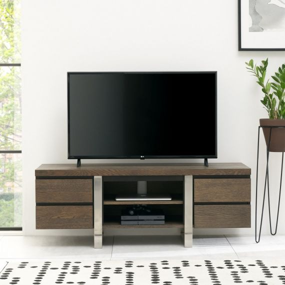 Tivoli Dark Oak Wide TV Entertainment Unit