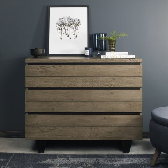 Tivoli Weathered Oak 3 Drawer Chest
