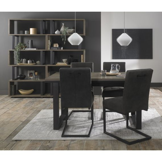Tivoli Weathered Oak Extending Dining Table - 4-6 Seater