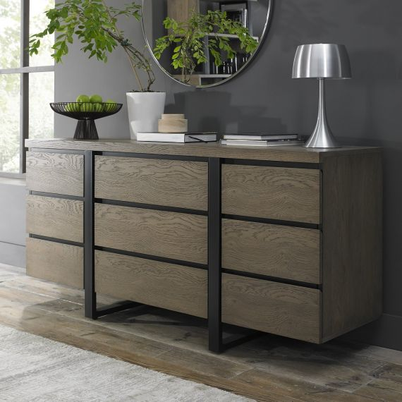 Tivoli Weathered Oak Wide Sideboard