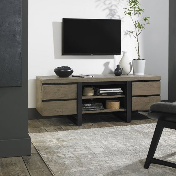 Tivoli Weathered Oak Wide TV Entertainment Unit