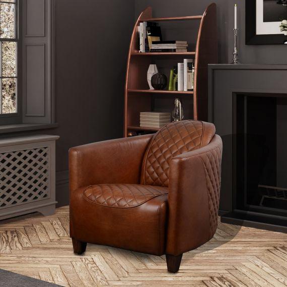 Triumph Bonneville Chair - Brown Aniline Leather
