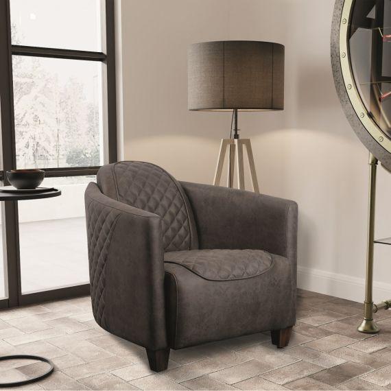 Triumph Trident Chair - Nutmeg Brown Faux Leather