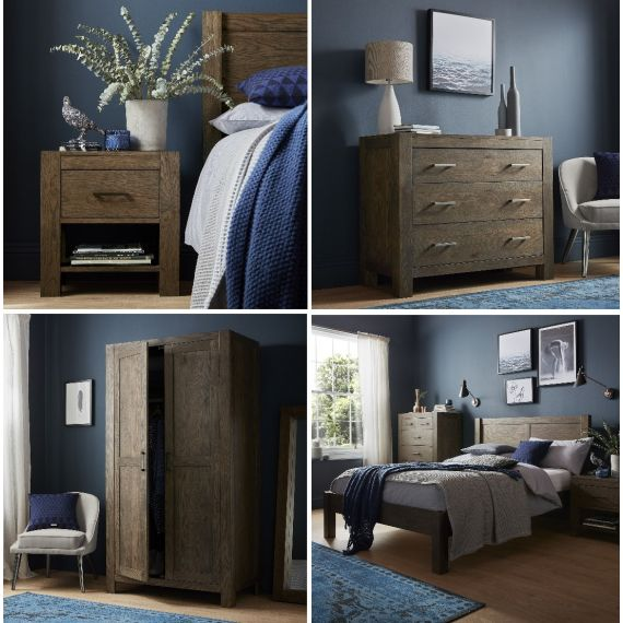 Turin Dark Oak Bedroom Set