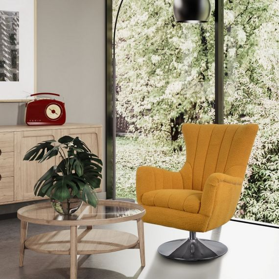 Vigo Chair - Malham Saffron Fabric