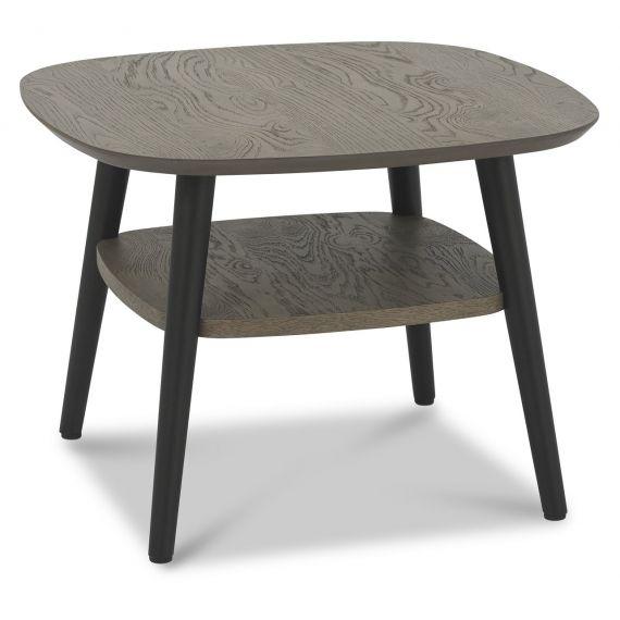 Vintage Weathered Oak & Peppercorn Lamp Table