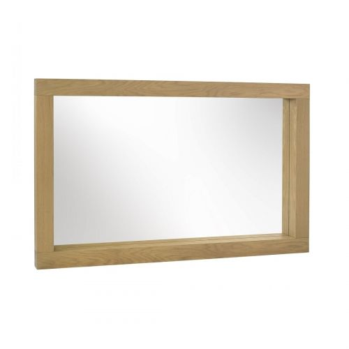 Turin Light Oak Large Wall Mirror