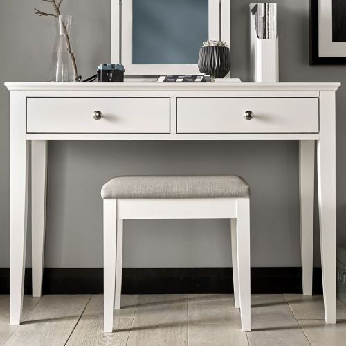 Ashby White Painted Dressing Table Stool - Ashby Bedroom Furniture