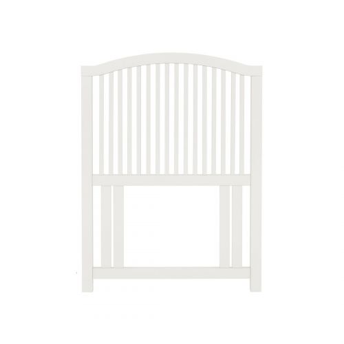 Ashby White Painted Slatted Single Headboard - Ashby Bedroom Furniture