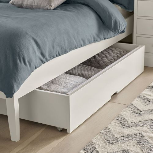 Ashby White Painted Under Bed Storage Drawer - Ashby Bedroom Furniture