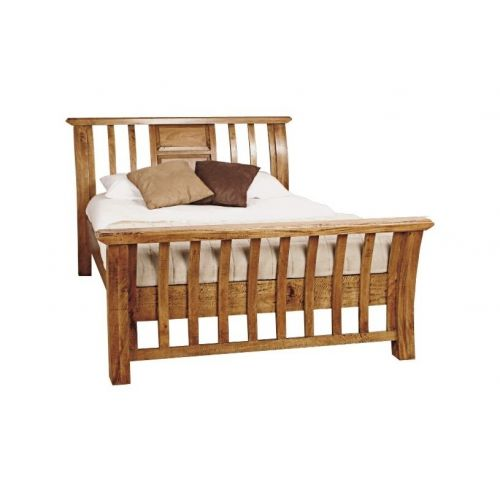 Asian Solid Mango Wood 5' King Size Bed