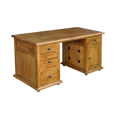 Asian Solid Mango Wood Computer Desk